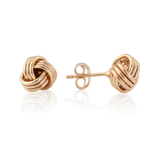 9ct Rose Gold Knot Stud Earrings Riley And Riley Jewellers